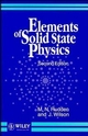 Elements of Solid State Physics, 2nd Edition (0471929735) cover image