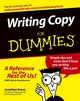 Writing Copy For Dummies (1118069935) cover image