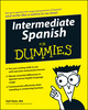 Intermediate Spanish For Dummies (0470184736) cover image