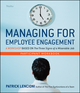 Managing for Employee Engagement Participant Workbook (0470520736) cover image