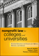 Nonprofit Law for Colleges and Universities: Essential Questions and Answers for Officers, Directors, and Advisors (0470913436) cover image
