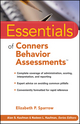 Essentials of Conners Behavior Assessments (0470346337) cover image
