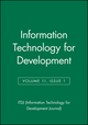 Information Technology for Development, Volume 11, Issue 1 (0471754137) cover image