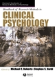 Handbook of Research Methods in Clinical Psychology (0631226737) cover image