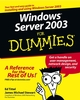 Windows Server 2003 For Dummies (0764516337) cover image