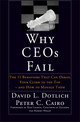 Why CEOs Fail: The 11 Behaviors That Can Derail Your Climb to the Top - And How to Manage Them (0787967637) cover image