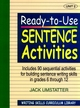 Ready-to-Use Sentence Activities: Unit 2, Includes 90 Sequential Activities for Building Sentence Writing Skills in Grades 6 through 12 (0876284837) cover image