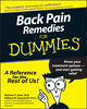 Back Pain Remedies For Dummies (1118069137) cover image