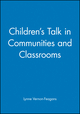 Children's Talk in Communities and Classrooms (1557864837) cover image