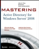 Mastering Active Directory for Windows Server 2008 (0470249838) cover image
