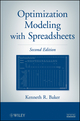 Optimization Modeling with Spreadsheets, 2nd Edition (0470928638) cover image