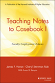 Teaching Notes to Casebook I: A Guide for Faculty and Administrators (0787953938) cover image
