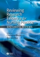 Reviewing Research Evidence for Nursing Practice: Systematic Reviews (1405144238) cover image