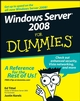 Windows Server 2008 For Dummies (0470180439) cover image