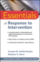 Essentials of Response to Intervention (0470566639) cover image