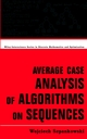 Average Case Analysis of Algorithms on Sequences (047124063X) cover image