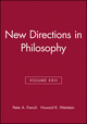 New Directions in Philosophy, Volume XXIII (063121593X) cover image