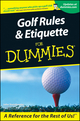 Golf Rules and Etiquette For Dummies (076455333X) cover image
