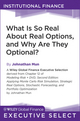 What Is So Real About Real Options, and Why Are They Optional? (111800633X) cover image