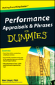 Performance Appraisals and Phrases For Dummies (0470555440) cover image