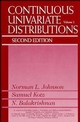 Continuous Univariate Distributions, Volume 2, 2nd Edition