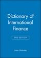 Dictionary of International Finance, 2nd Edition (0471836540) cover image