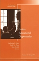 Latino Educational Opportunity: New Directions for Community Colleges, Number 133 (0787986240) cover image