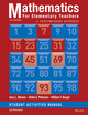 Mathematics for Elementary Teachers: A Contemporary Approach 10e Student Activity Manual (1118679040) cover image