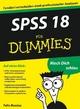 SPSS 18 für Dummies (3527658440) cover image