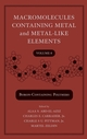 Macromolecules Containing Metal and Metal-Like Elements, Volume 8, Boron-Containing Particles (0470139641) cover image