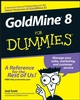 GoldMine 8 For Dummies (0764598341) cover image