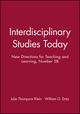 Interdisciplinary Studies Today: New Directions for Teaching and Learning, Number 58 (0787999741) cover image