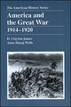 America and the Great War: 1914 - 1920 (0882959441) cover image