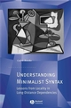 Understanding Minimalist Syntax: Lessons from Locality in Long-Distance Dependencies (1405157941) cover image