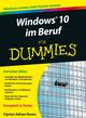 Windows 10 im Beruf für Dummies (3527806741) cover image
