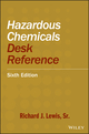 Hazardous Chemicals Desk Reference, 6th Edition (0470180242) cover image