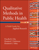Qualitative Methods in Public Health: A Field Guide for Applied Research (0787976342) cover image