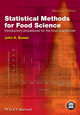 Statistical Methods for Food Science: Introductory Procedures for the Food Practitioner, 2nd Edition (1118541642) cover image