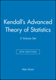 Kendall's Advanced Theory of Statistics, 3 Volume Set, 6th Edition (0470669543) cover image