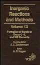 Inorganic Reactions and Methods, Volume 13, The Formation of Bonds to Group-I, -II, and -IIIB Elements (0471186643) cover image