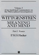 Wittgenstein: Meaning and Mind: Meaning and Mind, Volume 3 of an Analytical Commentary on the Philosophical Investigations, Part I: Essays (0631189343) cover image
