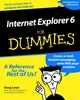 Internet Explorer 6 For Dummies (0764513443) cover image