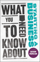 What You Need to Know about Starting a Business (0857082043) cover image