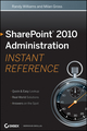 SharePoint 2010 Administration Instant Reference (1118022343) cover image
