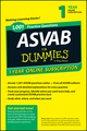 1,001 ASVAB Practice Questions For Dummies Access Code Card (1-Year Online Subscription) (1118843843) cover image