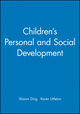 Children's Personal and Social Development (1405116943) cover image