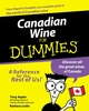 Canadian Wine for Dummies (0470676744) cover image