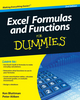 Excel Formulas and Functions For Dummies, 2nd Edition (0470770244) cover image