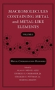 Macromolecules Containing Metal and Metal-Like Elements, Volume 5: Metal-Coordination Polymers (0471727644) cover image