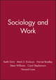 Sociology and work (0745695744) cover image